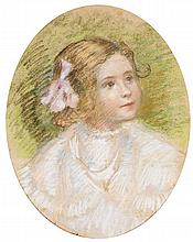 Georges-Daniel DE MONFREID (1856-1929) Portrait de MlleDevèze Pastel sur papier 46 x 38cm
