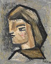 Ginés Parra (1896-1960) Portrait de jeune homme Huile sur toile Signée en bas à droite 46 x 38,5cm