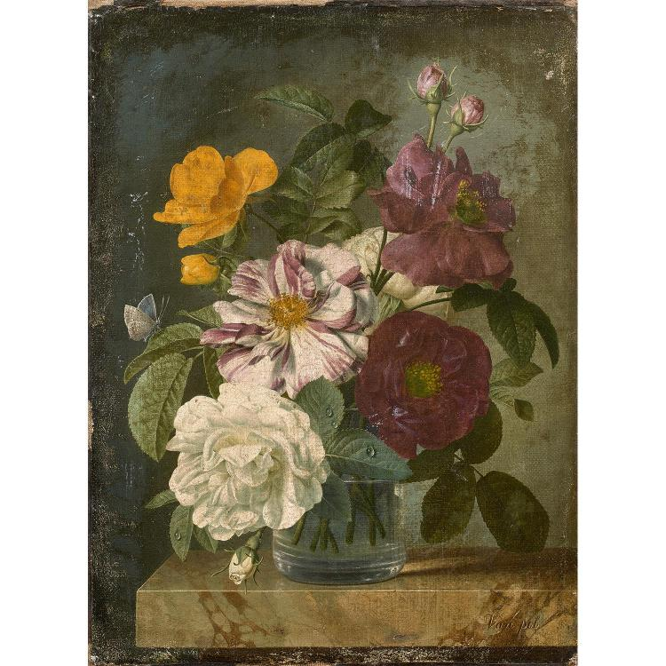 christiaan van pol heemstede 1752 paris 1813 bouquet de fl. Black Bedroom Furniture Sets. Home Design Ideas