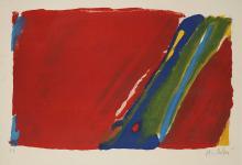 OLIVIER DEBRÉ (1920-1999) COMPOSITION ROUGE, 1973 Lithographie en couleurs. Épreuve signée et annotée E.A. Cadre. Sujet :...