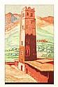 THÉO SCHMIED (né en 1901) SUD MAROCAIN, GRAND ATLAS, ANTI ATLAS