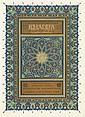 DINET (E.) ET SLIMANE BEN IBRAHIM «KHADRA» Illustrations d'Étienne Dinet, 1909, In-8°, ex. n°722. Reliure d'éditeur. Emboîtage.
