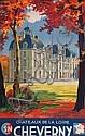 E. Paul Champseix S.N.C.F. Châteaux de la Loire Cheverny, 1946 100 x 62 cm, BE, E. Paul Champseix, Click for value