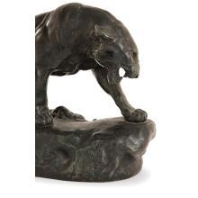 CHARLES VALTON (1851-1918)Lionne et lionceaux