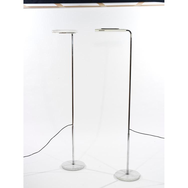 gecchelin paire de lampadaires halog nes base circulaire en. Black Bedroom Furniture Sets. Home Design Ideas