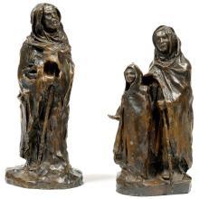 BERTHE GIRARDET (1869-1948) - L'ENFANT ET L'AVEUGLE / THE CHILD AND THE BLIND MAN