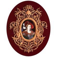 PORTRAIT DE JEANNE D''ARC, ÉMAIL PEINT SUR CUIVRE ATTRIBUÉ À CLAUDIUS POPELIN (1825-1892)