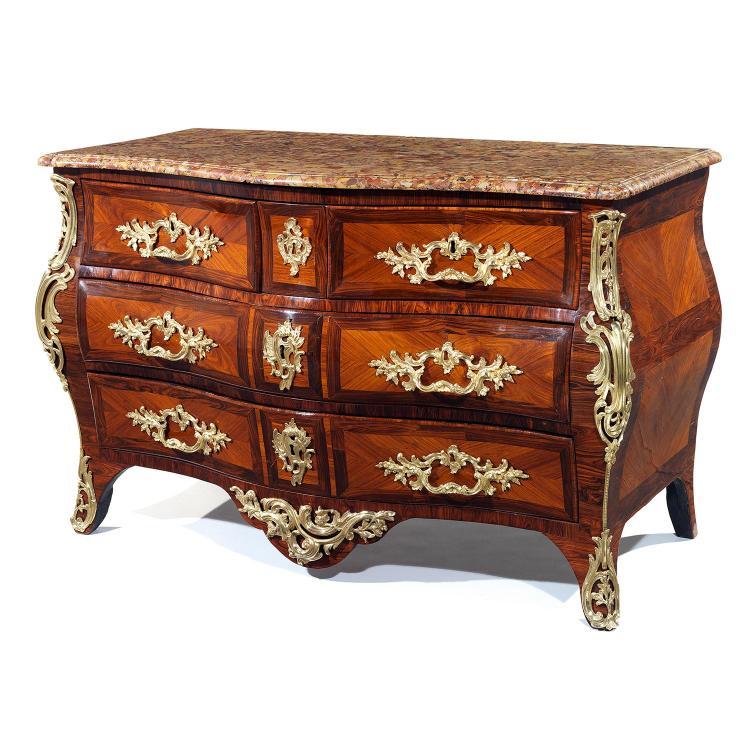 Commode tombeau d 39 39 poque louis xv estampill e l boudinen p - Commode bois de rose ...