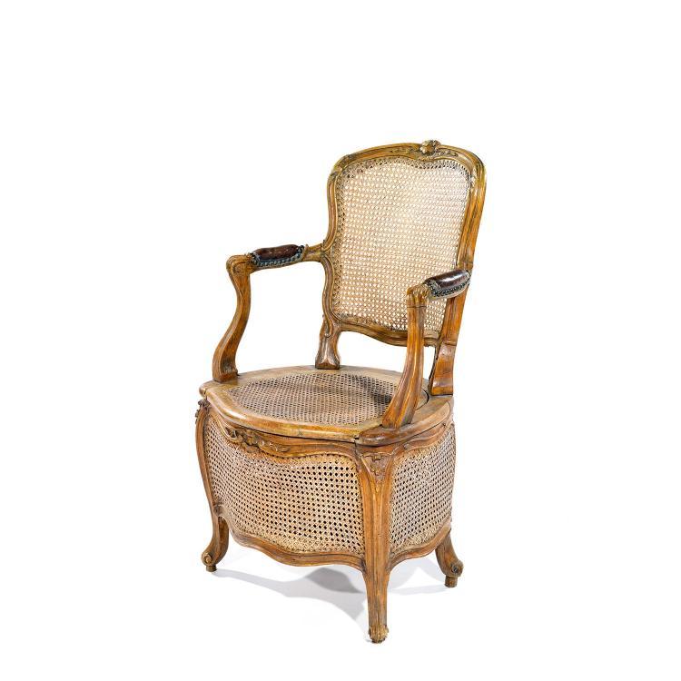 fauteuil de commodit 201 d 201 poque louis xven bois naturel moul