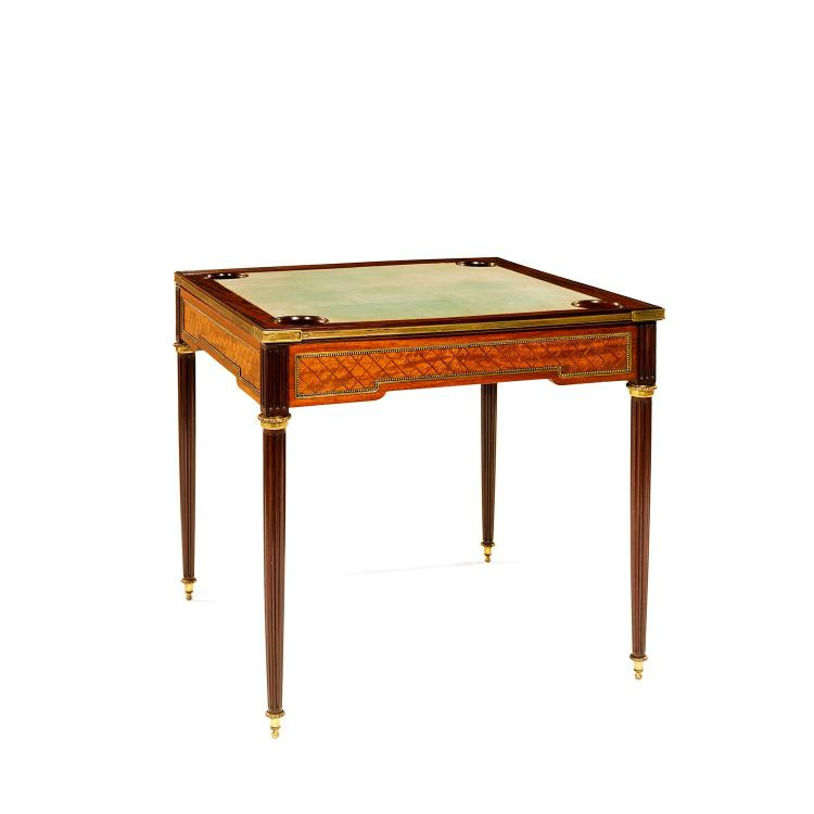 Mellier and co london table jeu de style louis xvide f for Table carree 8 couverts