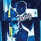 Jacques Monory  (né en 1934)  Baiser n°22, 2001 Huile et collage sur toile Signé, daté et titré au dos Oil and collage on canvas Sig...