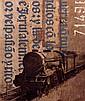 Luca Pignatelli (né en 1962) Treno, 2007 Technique mixte sur bâche de train Signée, datée et titrée au dos Oil on railway tarpaulin ...