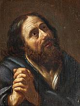 Attribué à Jan van BYLERT (1603 - 1671) Saint Pierre Panneau de chêne, deux planches, non parqueté 49 x 38 cm Restaurations ancienne...