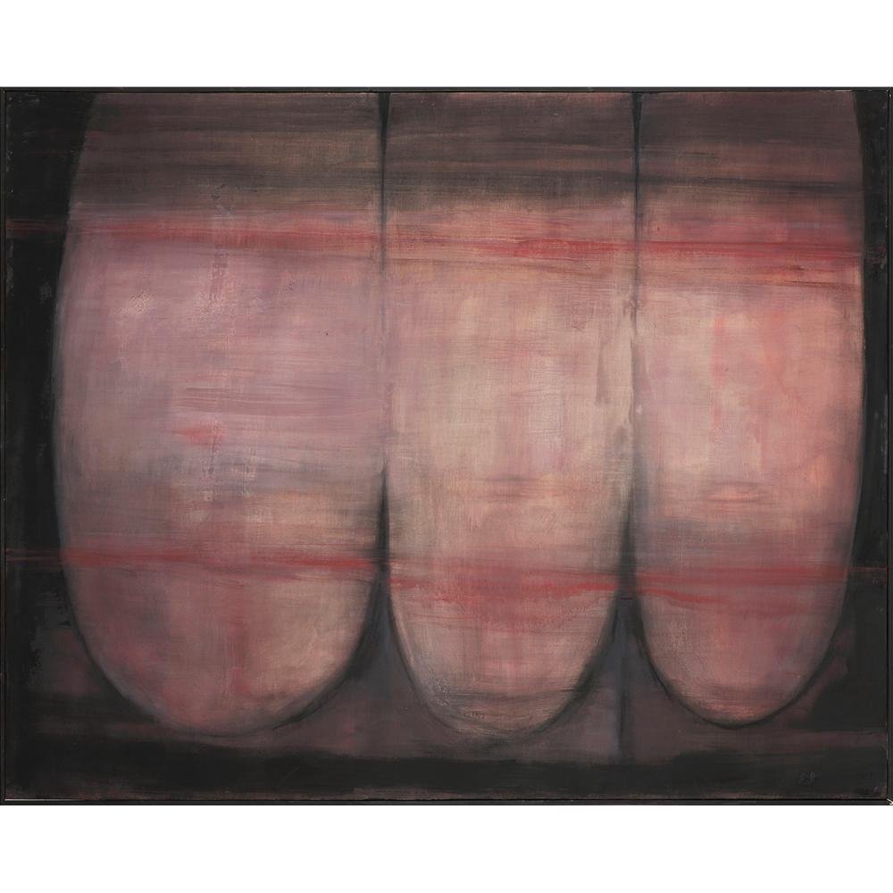 PIERRE DMITRIENKO (1925-1974) Conversation, 1964 Huile sur toile Signée et datée en bas à droite Contresignée et datée au do...