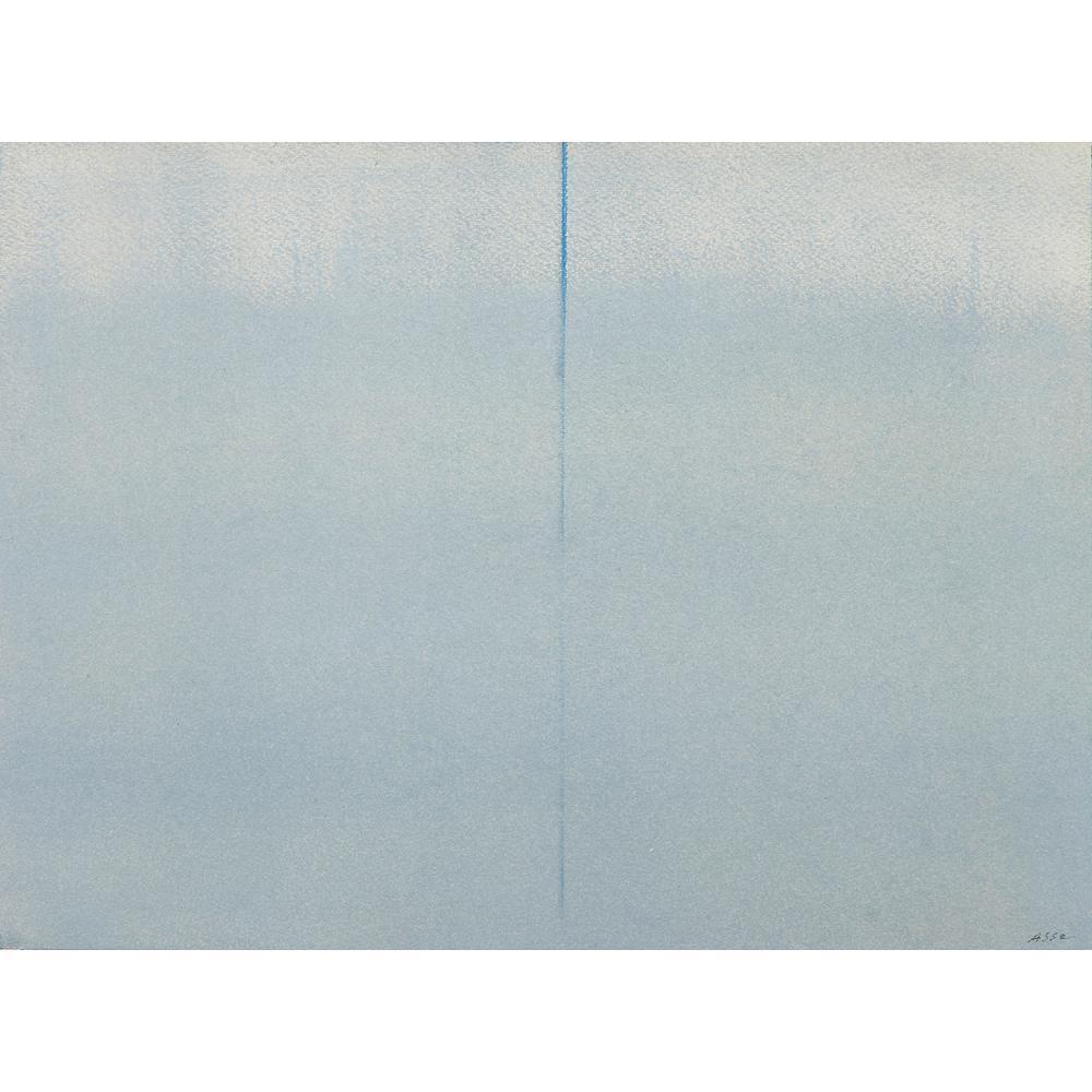 ƒ GENEVIÈVE ASSE (née en 1923) Distance IX, 1981 Huile sur papier Signée en bas à droite Oil on paper; signed lower rightR...