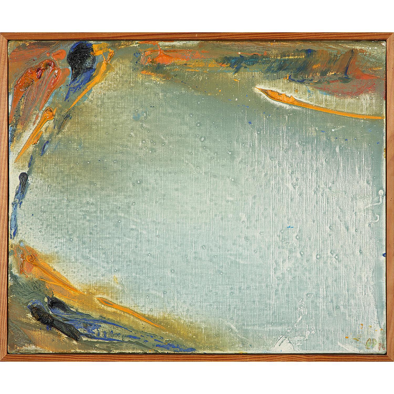 OLIVIER DEBRÉ (1920-1999) Petite jaune de Loire, 1974 Huile sur toile Signée des initiales et datée '74' en bas à droite Con...