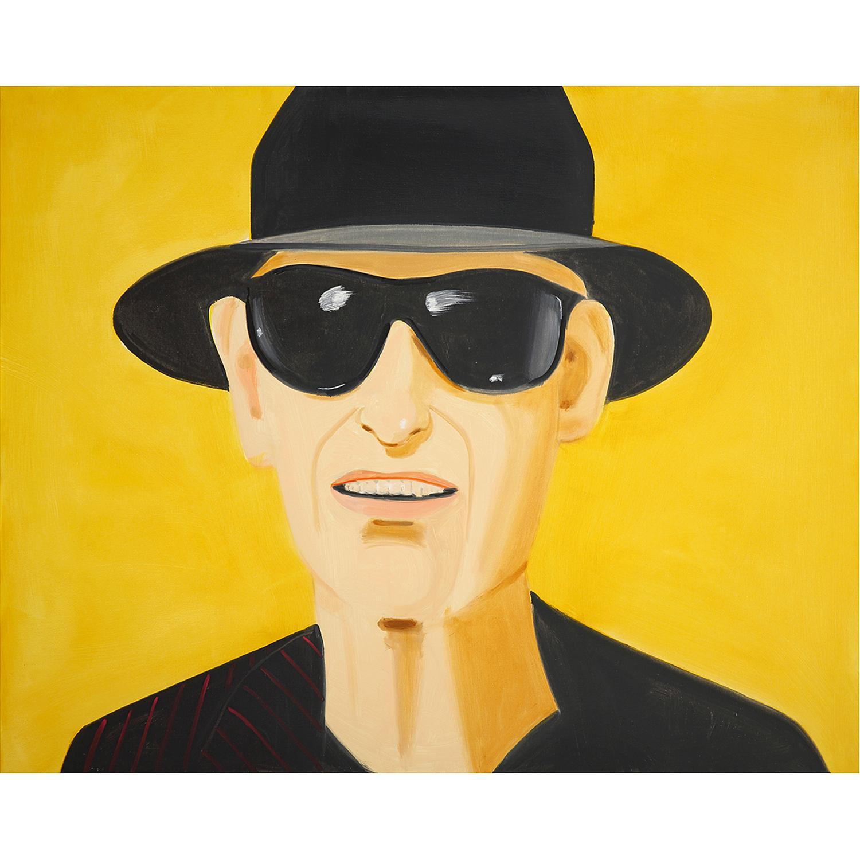 ALEX KATZ (né en 1927) Black hat (Alex), 2010 Huile sur toile Signée et datée au dos Oil on linen; signed and dated on the...