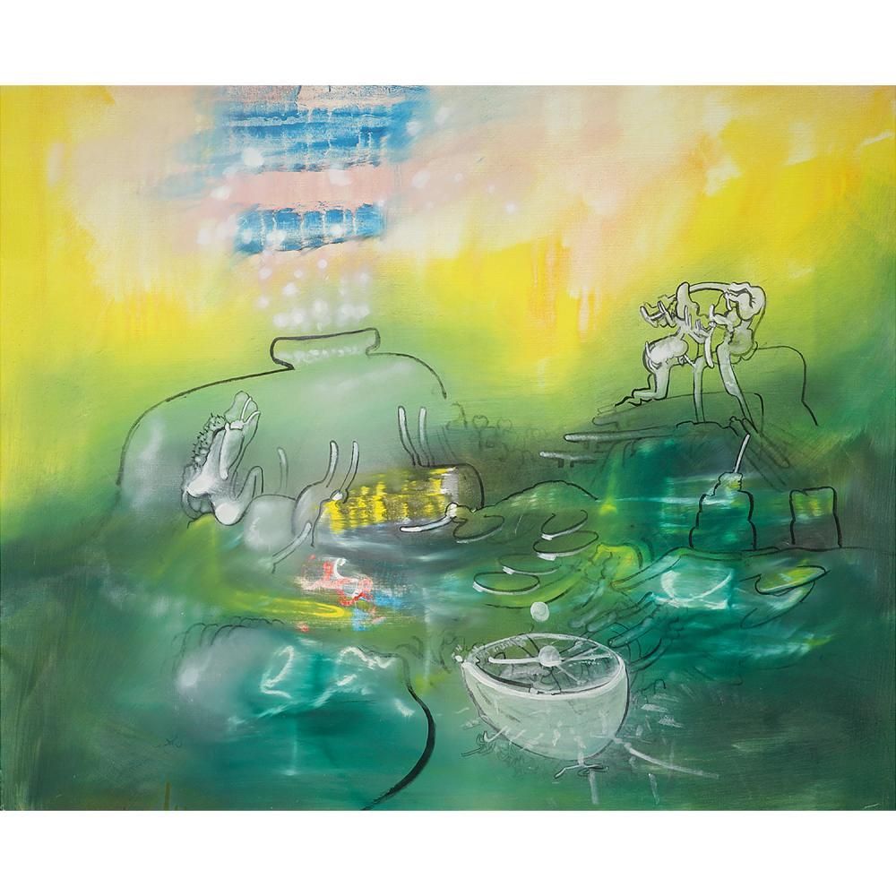 ROBERTO MATTA (1911-2002) Sans titre, circa 1970 Huile sur toile Signée en bas vers la gauche Oil on canvas; signed lower le...