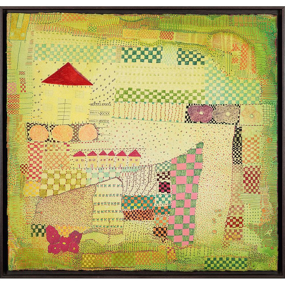 HUGUETTE CALAND (1931-2019) Aley 2, 2010 Technique mixte sur toile Signée, titrée et datée au dos Mixed media on canvas; si...