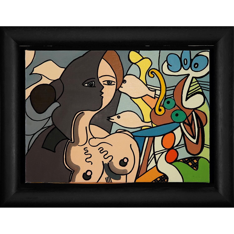 ERRÓ (né en 1932) Black profil, 1995 Acrylique sur toile Signée et datée au dos Acrylic on canvas; signed and dated on the r...