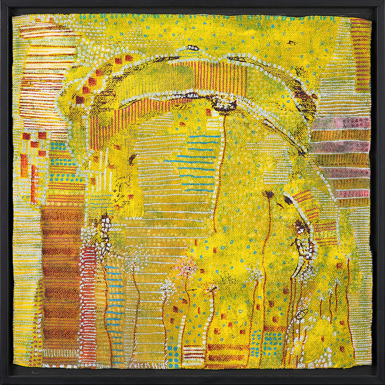 HUGUETTE CALAND (1931-2019) Me, 2010 Technique mixte sur toile Signée, titrée et datée au dos Mixed media on canvas; signed...