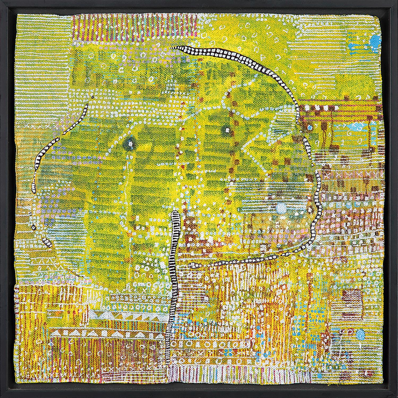 HUGUETTE CALAND (1931-2019) You, 2010 Technique mixte sur toile Signée et datée au dos Mixed media on canvas; signed and da...