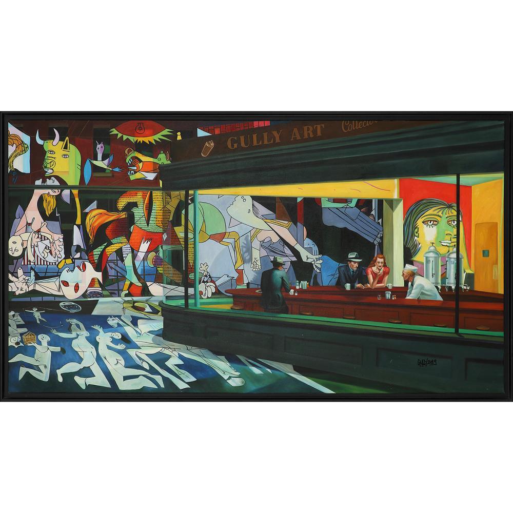 GULLY (né en 1977) Hommage NTHK Picasso 15, 2019 Technique mixte sur toile Signée et datée vers le bas à droite Mixed media...