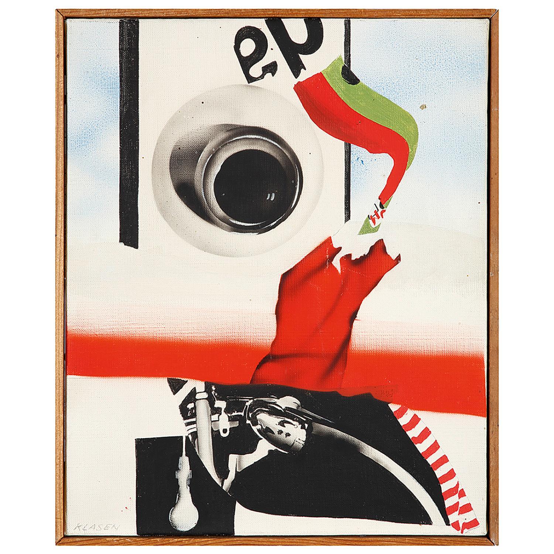 PETER KLASEN (né en 1935) La femme mystifiée, 1966 Acrylique sur toile Signée en bas à gauche Contresignée, titrée et datée...