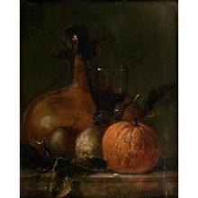 Juriaen Van STREECK (Amsterdam 1635-1687) Nature morte aux agrumes et verre de vin
