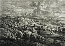 SCHELTE A BOLSWERT DEUX PAYSAGES ANIMÉS, d'une série de 21 petits paysages d'après Rubens