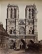 Edouard Denis Baldus (1813-1889) Façade la Cathédrale Notre Dame, vers 1857 Épreuve salée, négatif papier, non montée 440 X 345 mm, Edouard-Denis Baldus, Click for value