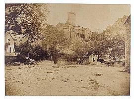 André Giroux (1801-1879) Peyrelaud, Aveyron, vers 1850-55 Épreuve salée, négatif papier, montée sur carton, annotations manuscrites ...