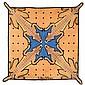 Jean-Charles de CASTELBAJAC (Né en 1949) & TAI PING (Éditeur) Tapis carré en laine tuftée, représentant quatre tigres stylisés s'abr...