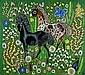 ƒ Frère DOM ROBERT (1907-1997, né Guy de Chaunac-Lanzac) « Paddock » Tapisserie d''Aubusson basse lisse, tissage en laines pol...,  Dom Robert, Click for value