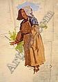 JEAN-FRÉDÉRIC BAZILLE (1841-1870) VENDANGEUSE À LA COIFFE Huile sur panneau, signée des initiales en bas à droite 33 X 24 CM, Frederic Bazille, Click for value