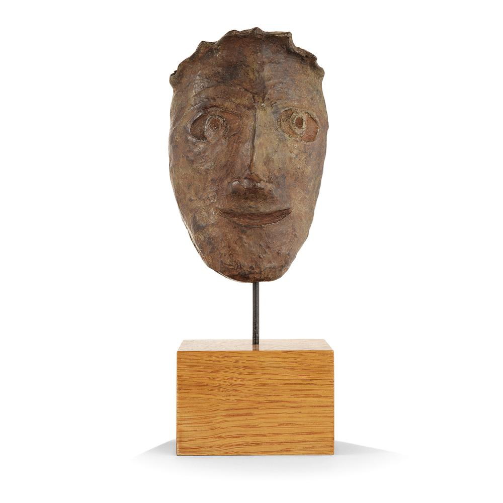 ANDRE DERAIN (1880-1954) Masque Bronze cast with brown patina; inscribed AT. André Derain 5 15/16 x 3 15/16 x 2 9/16 IN.