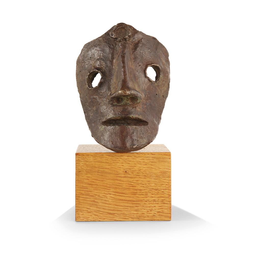 ANDRE DERAIN (1880-1954) Petit masque Bronze cast with brown patina; inscribed AT. André Derain 3 11/16 x 2 9/16 x 2 3/16 IN.