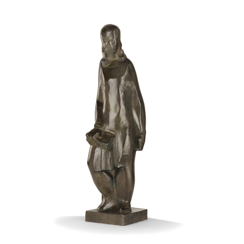 Joseph Csaky (1888 - 1971) Femme, 1928 Bronze with brown patina; carries the studio stamp AC and the foundry stamp Blanchet Landowski;