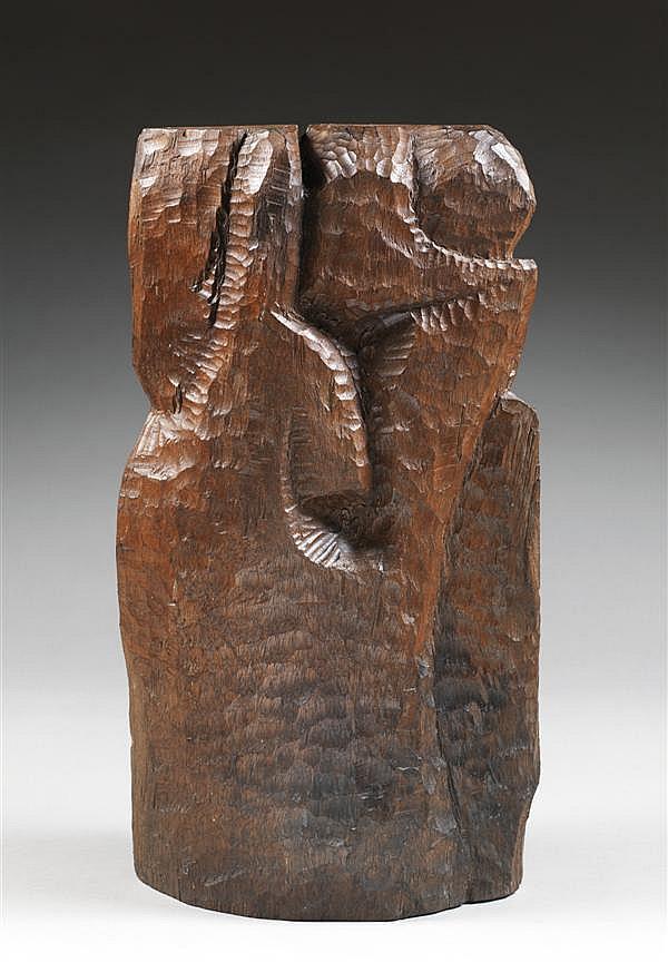 Willy ANTHOONS (1911-1982) Sans titre, vers 1965 Epreuve originale en bois Hauteur : 48 cm - Height : 18 7/8 in
