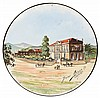 Jérôme MASSIER FILS (1850-1916) An earthenware plate. Enamelled signature. Diam. 9 7/8 in., Jerome Massier, Click for value