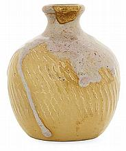 THÉO PERROT (1856-1942) A little spherical enamelled stoneware vase. Carved signature. Height. 3 7/8 in.