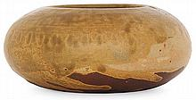 THÉO PERROT (1856-1942) An enamelled stoneware bowl. Carved signature. Height. 2 in. - Diam. 4 3/4 in.