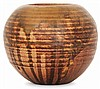 PAUL JEANNENEY, pseudonyme de PAUL LOEWENGUTH (1861-1920) A spherical enamelled stoneware vase. Carved signature. Height. 3 1/2 in., Paul Loewenguth, Click for value