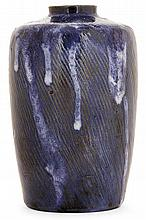 THÉO PERROT (1856-1942) A stoneware vase. Carved signature. Height. 6 in.