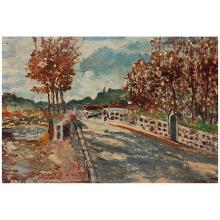 Maurice-Henri HENSEL (Né en 1890) Route de village, 1961