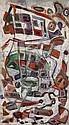 Carlo de Roover (1900 - 1986) Carnaval, 1960 Huile sur toile Signée et datée 60 en bas à droite 145 x 81 cm, Carl