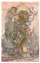 Fred Deux (né en 1924) La vie après, 2007 Crayon et acrylique sur papier Numéroté 5037 en bas à gauche, titré, signé, daté et numéro...