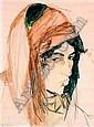 MAURICE-HENRI HENSEL (NÉ EN 1890) FEMME DU SUD ALGÉRIEN Aquarelle, signée en bas à gauche, située à Laghouat et datée 1926 en ba..., Maurice Henri Hensel, Click for value