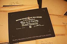 Disney Miscellaneous 1. 20 x BBFC Certificates