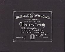 Cinderella.  1940's British Board Of Film Censors Certificate
